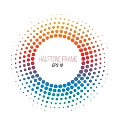 Color halftone dotted frame gradient banner vector