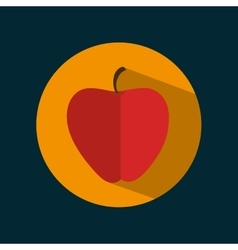 Icon apple fruit nutrition sport design vector