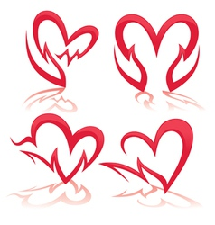 Heart in my hands collection of health symbols vector