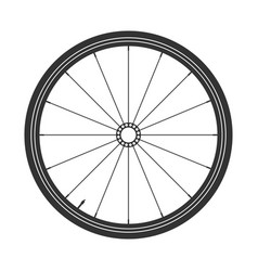 Bicycle wheel symbol bike rubber mountain vector