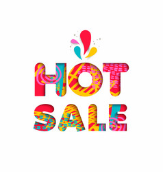 Hot sale color quote sign for big special discount vector