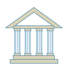 Isolated bank building vector