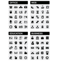 Office web education and business vector