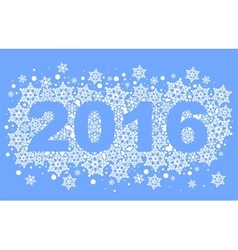 2016 background of snowflakes Number text of vector image