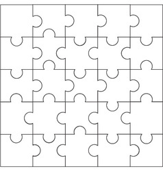 Design of jigsaw pattern vector