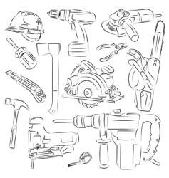 builders tools vector image