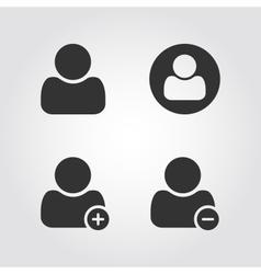 User man icons set flat design vector image