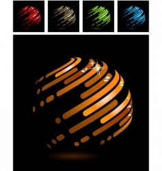 Abstract ball made of stripes vector
