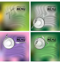 Restaurant menu food and drink vector
