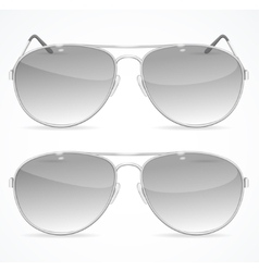 Aviator sunglasses set vector