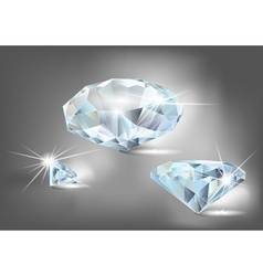 Set of diamonds vector