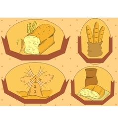 Bread label vector