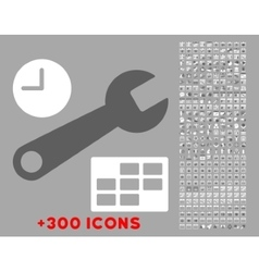 Date and time setup icon vector