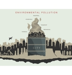 Environmental pollution in the city vector