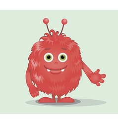 Good red furry monsters 6 vector image