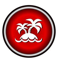 island icon on white background vector image