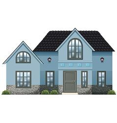 A big blue house vector