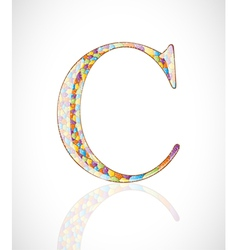 Abstract letter c vector