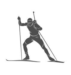 Biathlon abstract sport vector