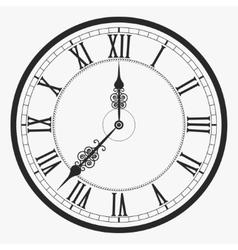Black wall clock vector image