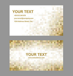Brown mosaic business card template design vector