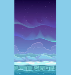 Cartoon polar landscape vector