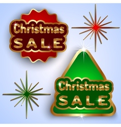 Christmas Sale Badges vector image vector image