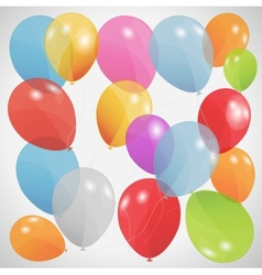 Colored balloons Eps 10 vector image vector image