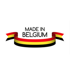 Colored ribbon with the belgian tricolor vector