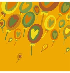 Colorful Balloons Abstract background vector image vector image