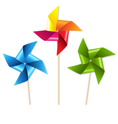 colorful pinwheels vector image