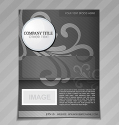 Company floral style brochure design vector