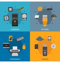 Computer Parts Set vector image