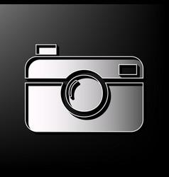 Digital photo camera sign gray 3d printed vector