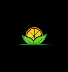 Fresh fruit organic nature logo vector