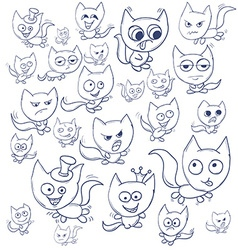 Funny cats contour suitable for childrens stories vector