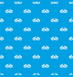 glasses for 3d movie pattern seamless blue vector image vector image
