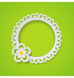 green background with a frame vector image vector image
