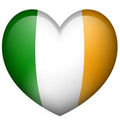 Ireland flag in heart shape vector