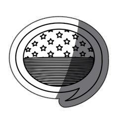 Isolated usa flag inside bubble design vector