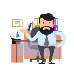 Manager or businessman with a beard and mustache vector