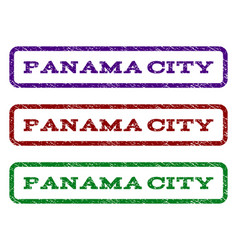 Panama city watermark stamp vector