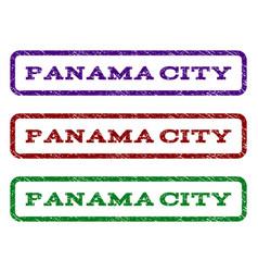 panama city watermark stamp vector image vector image