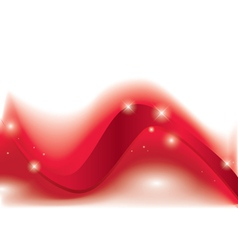 red curly ribbon on white background vector image