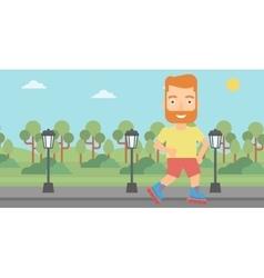 Sporty man on roller-skates vector image vector image