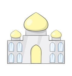 Taj Mahal India icon cartoon style vector image