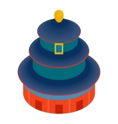 Temple of heaven icon isometric 3d style vector