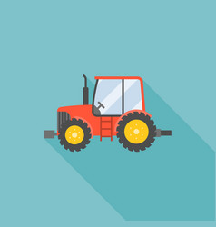 tractor icon flat design vector image vector image