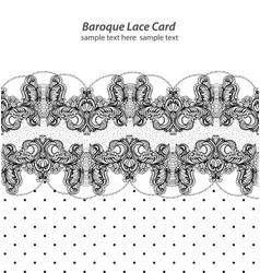 vintage retro delicate lace card handmade vector image vector image