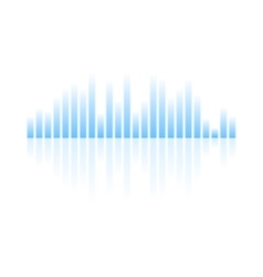 Blue musical equalizer design on white background vector